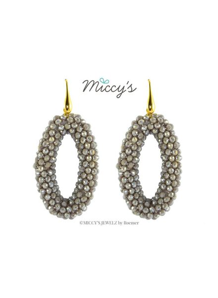 Miccy's Oorhanger Crystal, grey ovals