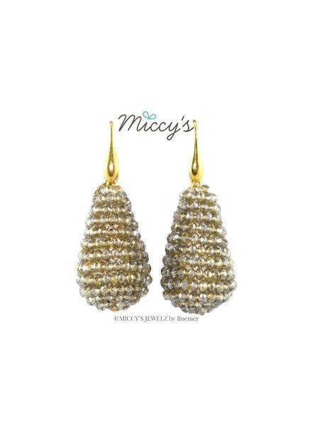 Miccy's Oorhanger Crystal, grey drops