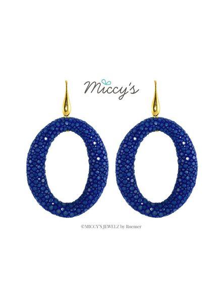 Miccy's Oorhanger Stingray, kobalt hoops