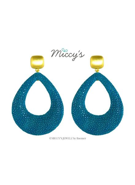 Miccy's Oorhanger Stingray, Teal open drops