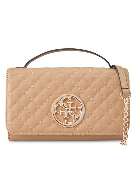 Guess tas G lux wallet on a string tan