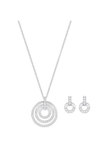 Swarovski set Circle ketting met oorknoppen - 5367727