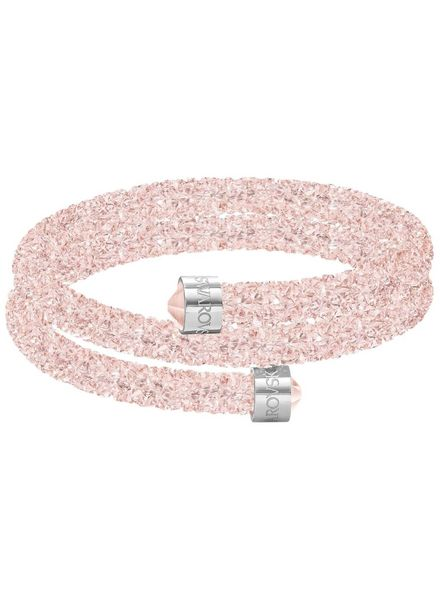 Swarovski Crystaldust Double Bangle, Pink 5292438