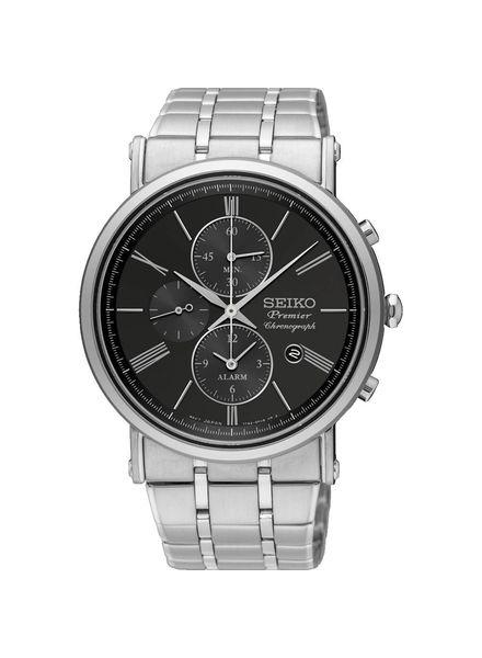 Seiko heren horloge premier - chronograaf - SNAF75P1