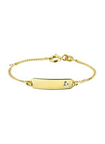 Tomylo Geelgouden armband kind 11cm 233853