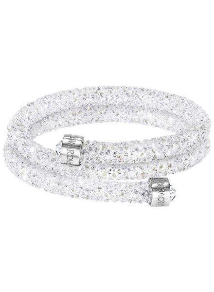 Swarovski armband Crystaldust Double  wit - 5237754
