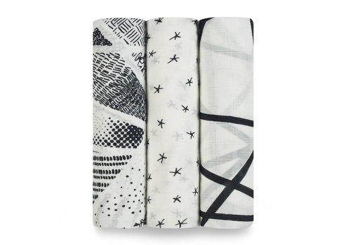 Aden & Anais Aden & Anais Tetradoeken Midnight Bamboo 3-Pack