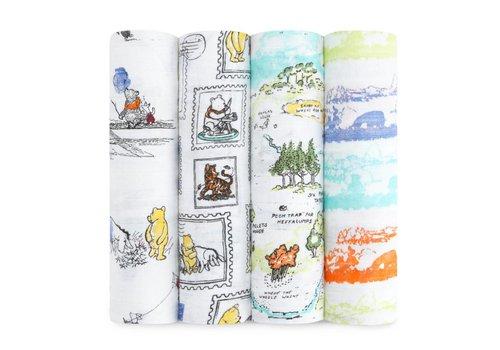 Aden & Anais Aden & Anais Tetradoeken Winnie The Pooh 4-Pack