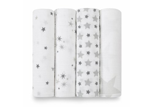 Aden & Anais Aden & Anais Swaddle New Twinkle 4-Pack