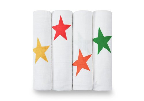 Aden & Anais Aden & Anais Swaddle Super Stars 4-Pack
