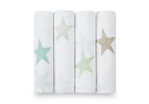 Aden & Anais Aden & Anais Swaddle Super Star Scout 4-Pack