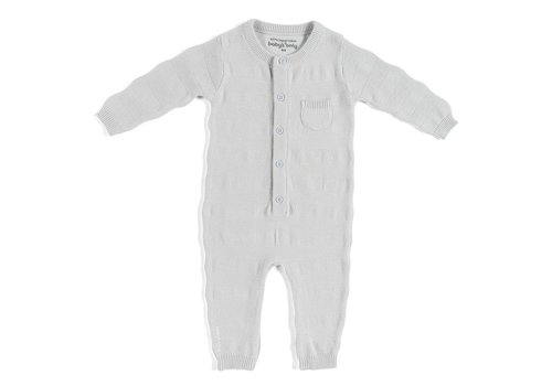 Baby's Only Baby's Only Sleepsuit Stripe Silver Gray