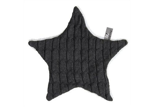 Baby's Only Baby's Only Cuddle Cloth Teddy Star Uni Cable Anthracite