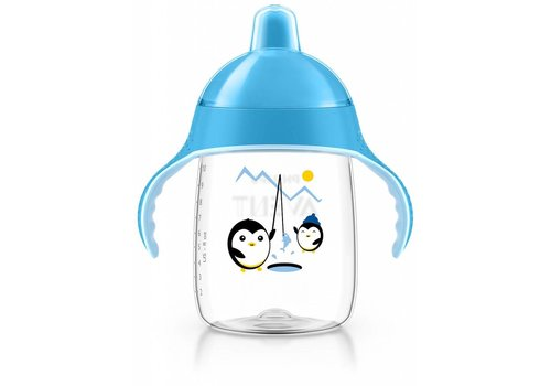 Avent Avent Leak Proof Pinguin Drink Cup 340 ml Blue
