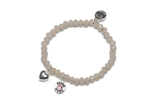 Proud Mama Proud Mama Bracelet Charm Taupe Pink