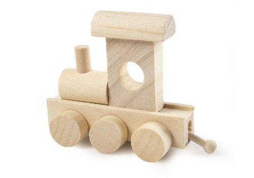 Bartok Bartok Treinletter Locomotief Naturel