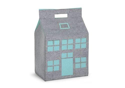 Childhome Childhome Vilten Speelhuis 50 x 35 x 72 Grijs - Mint Blauw