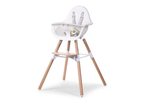 Childhome Childhome Evolu Stoel 2 In 1 + Beugel Naturel - Wit