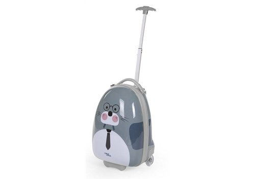 Childhome Childhome Trolley Walrus 27 x 39 x 15 cm Grijs