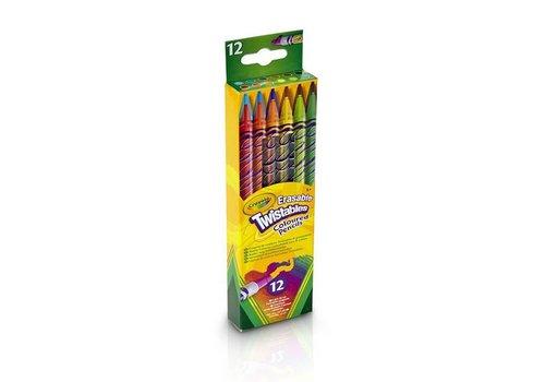 Crayola Crayola Twistables Colored Pencils With Gum 12 Pieces