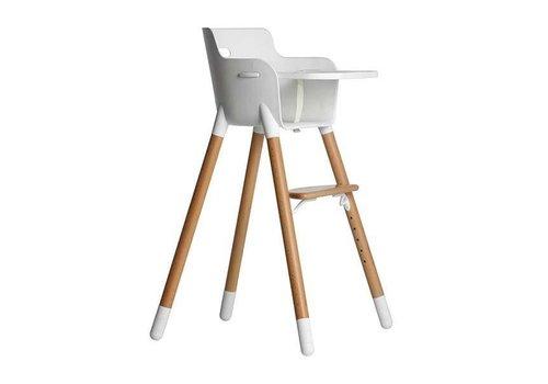 Flexa Flexa High Chair With Tablet, Bumper + Belt White