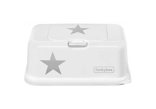 Funkybox Funkybox Vochtige Doekjes Houder Ster Zilver - Wit