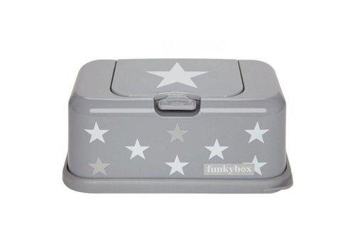 Funkybox Funkybox Kleenex Box Grey - Stars