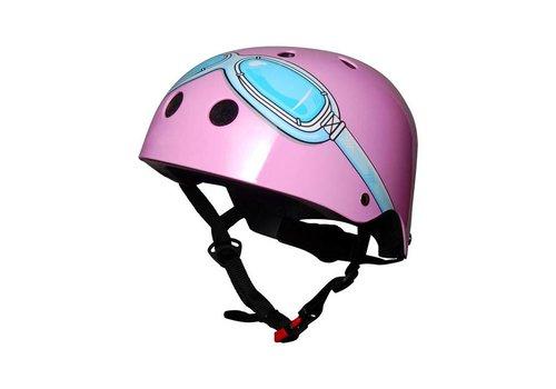 KiddiMoto Kiddimoto Helmet Pink With Sunglasses Print M