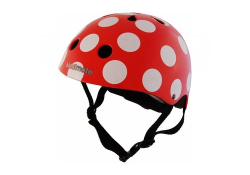 KiddiMoto Kiddimoto Helmet Dotty Red