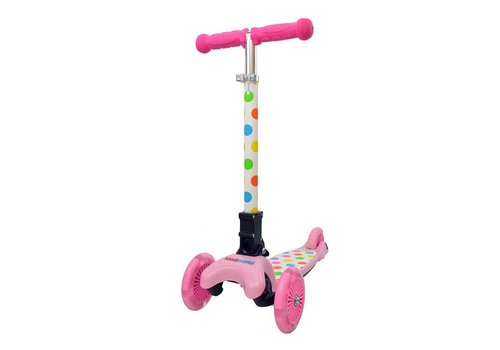 KiddiMoto KiddiMoto Step U-Zoom Pastel Dotty