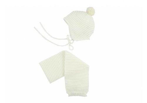 Paz Rodriguez Paz Rodriguez Hat + Scarf Stripes Off-white