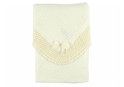 Paz Rodriguez Paz Rodriguez Blanket Lace Detail Off-white