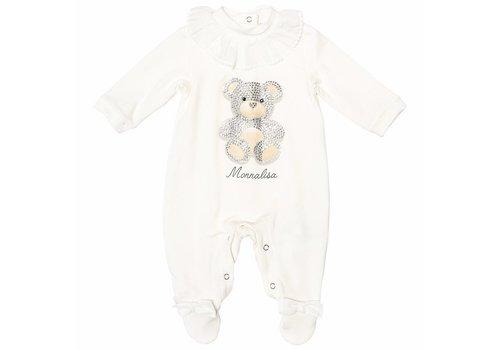 Monnalisa Monnalisa Pyjama Teddy Met Kraagje