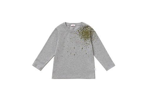 Il Gufo Il Gufo T-Shirt Grijs Met Groene Spat