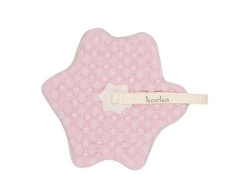 Koeka Koeka Pacifier Cloth Oslo Koeka Pink - Pebble