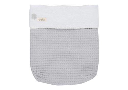 Koeka Koeka Baby Blanket Antwerp Silver - White