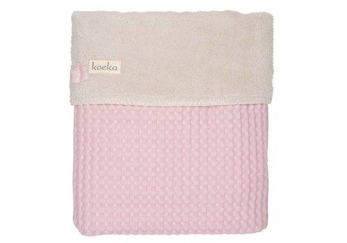 Koeka Koeka Cot Blanket Oslo 100 x 150 Old Pink - Pebble