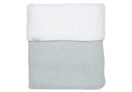 Koeka Koeka Cot Blanket Vizela 100 x 150 Water Saffier - White