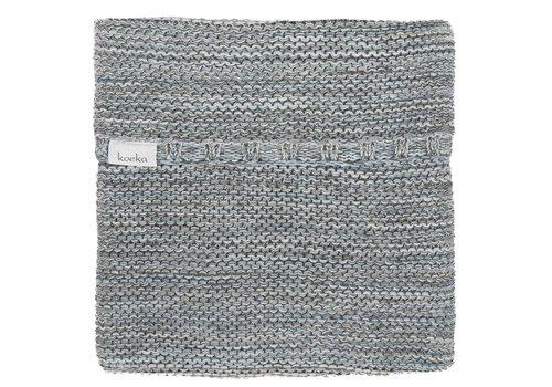Koeka Koeka Blanket Cradle Porto Grey - Light Blue - Pebble