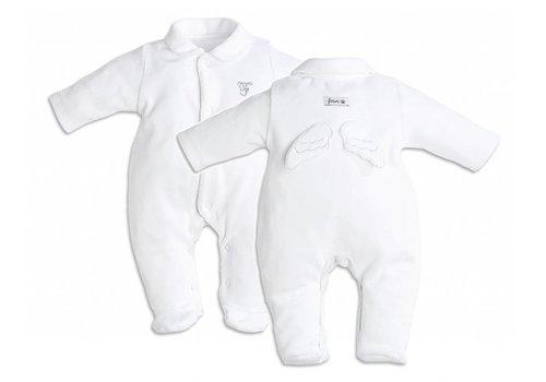 First First Pyjama Engelvleugeltjes Velour Wit