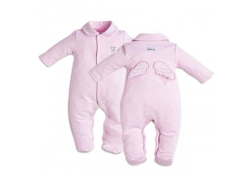 First First Pyjamas Pink With Angel Wings