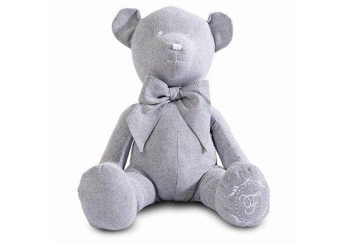 First First Teddybeer Lola 40 cm Grijs
