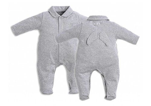 First First Pyjama Grijs Met Engelenvleugeltjes