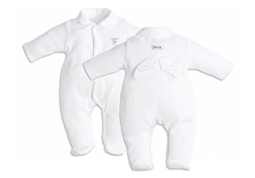 First First Pyjamas Angel Wings White