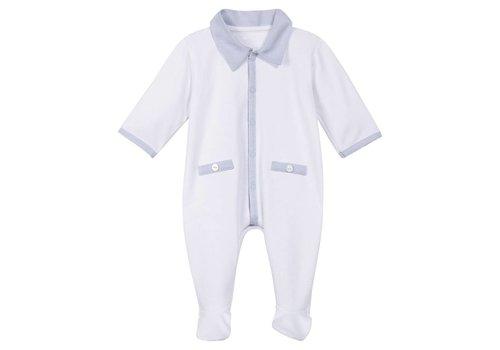 Absorba Absorba Pyjamas White With Sky Detail Collar