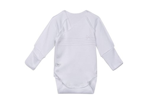 Absorba Absorba Bodysuit White With Pink Detail Bow
