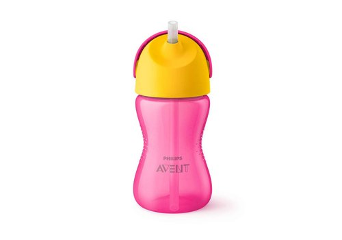 Avent Avent Drink Cup With Straw Girl 300 ml Pink