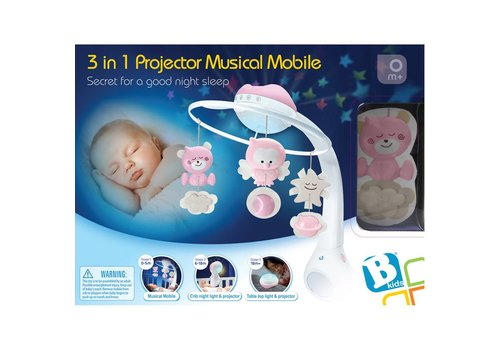 B-Kids B-Kids Musical Projector Mobile 3 in 1 Pink