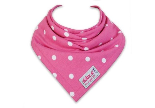 Skibz Skibz Burp Cloths Spots Pink