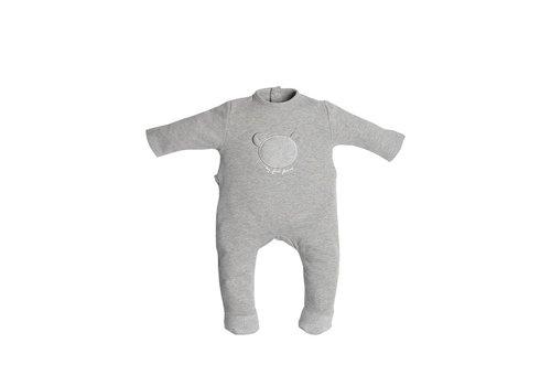 First First Pyjama Grijs Met Beertje Op Borst